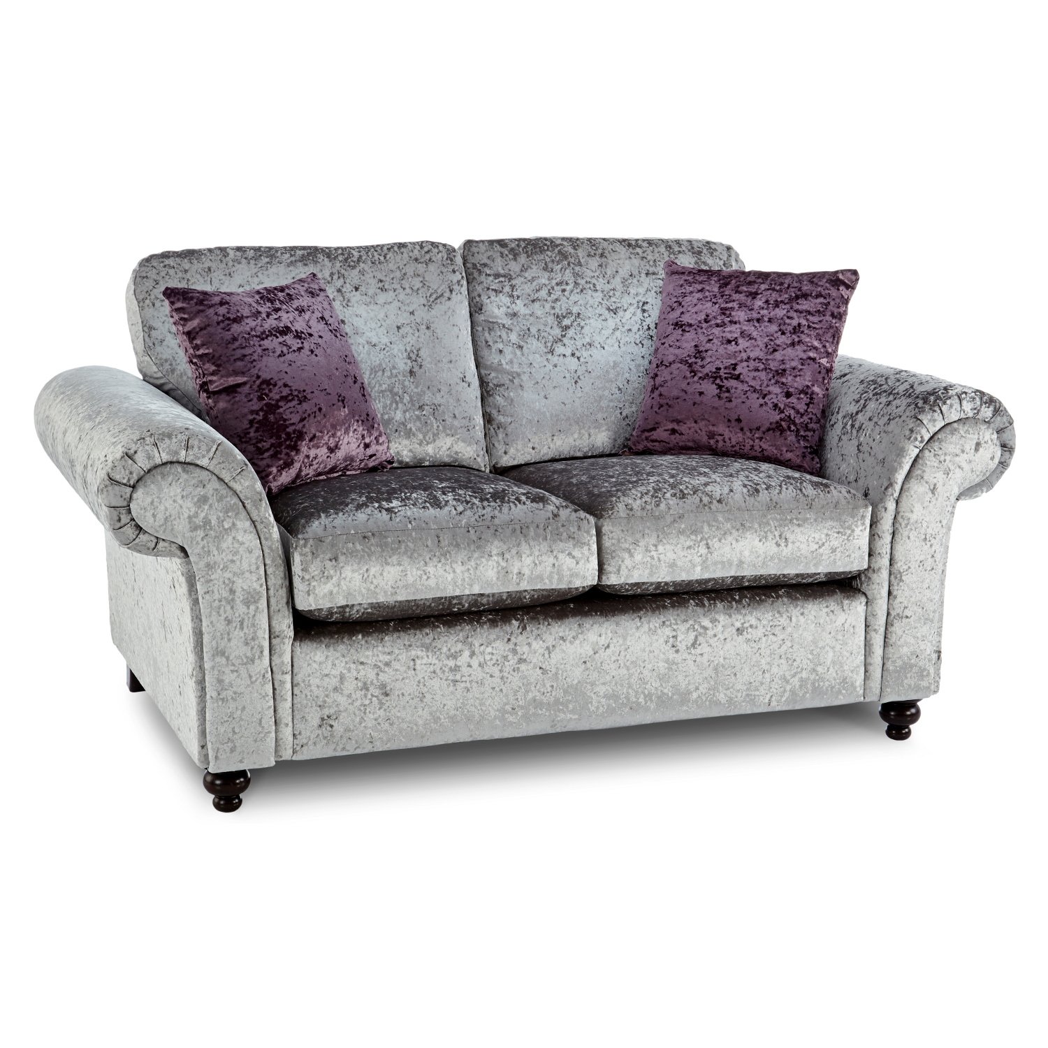 marilyn 3 2 seater crushed velvet sofa in silver just sit on it. Black Bedroom Furniture Sets. Home Design Ideas