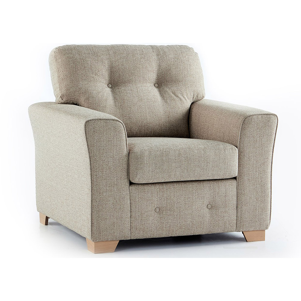 Plumstead Fabric Armchair in Beige