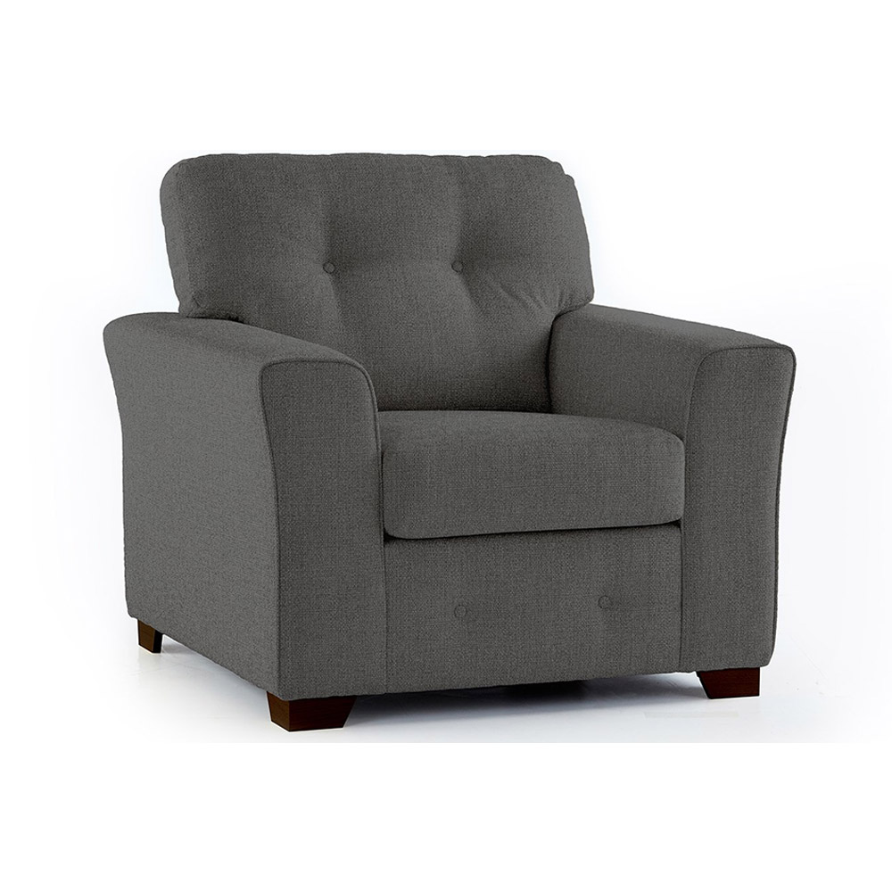Plumstead Fabric Armchair in Grey