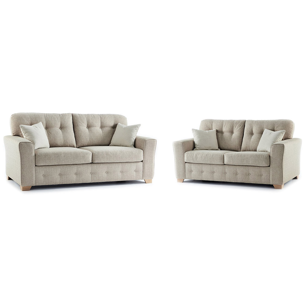 Plumstead Fabric 3 & 2 Seater Sofa Combo in Beige