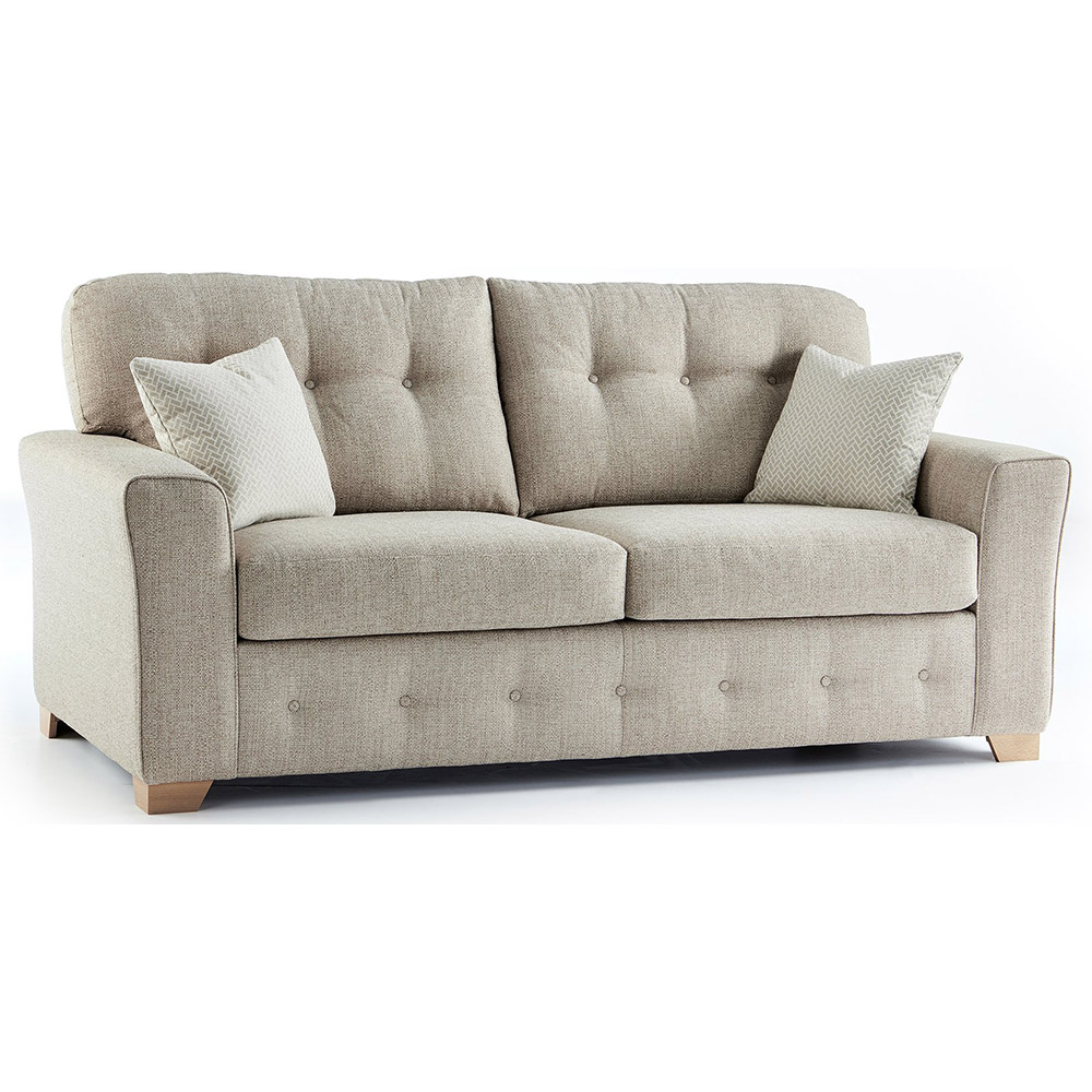 Plumstead Fabric 3 Seater Sofa in Beige