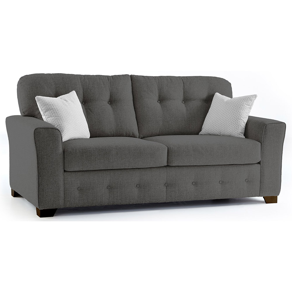 plumstead fabric 3 seater sofa in grey just sit on it. Black Bedroom Furniture Sets. Home Design Ideas