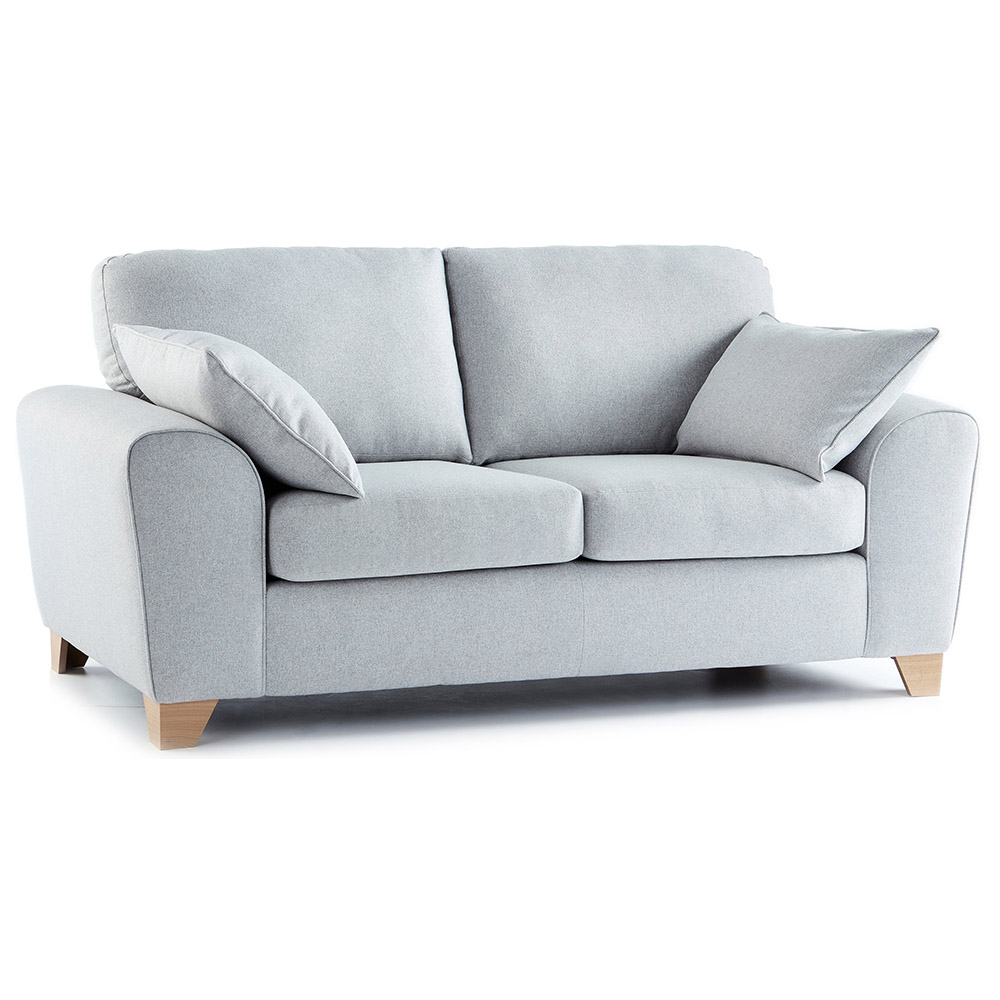 Robyn Fabric 2 Seater Sofa in Light Grey