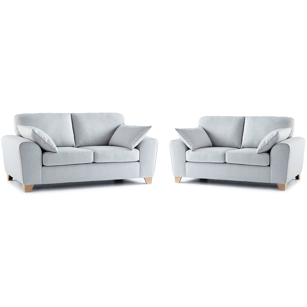 Robyn Fabric 3 & 2 Seater Sofa Combo in Light Grey