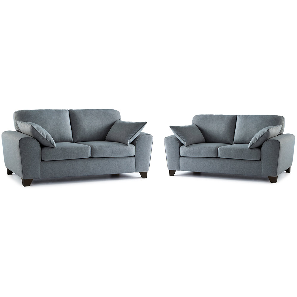 Robyn Fabric 3 & 2 Seater Sofa Combo in Steel