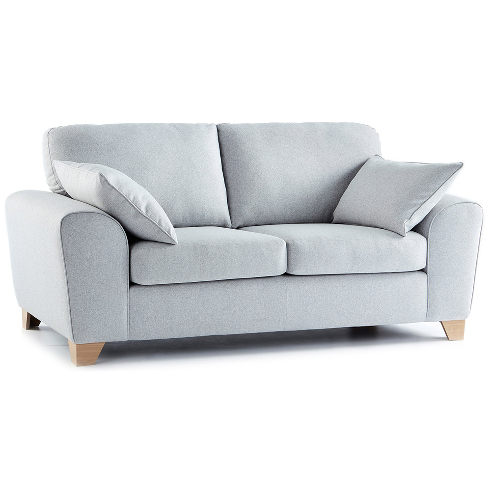 Robyn Fabric 3 Seater Sofa in Light Grey