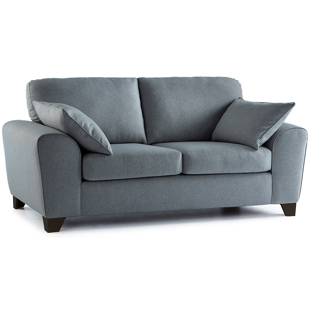 Robyn Fabric 3 Seater Sofa in Steel