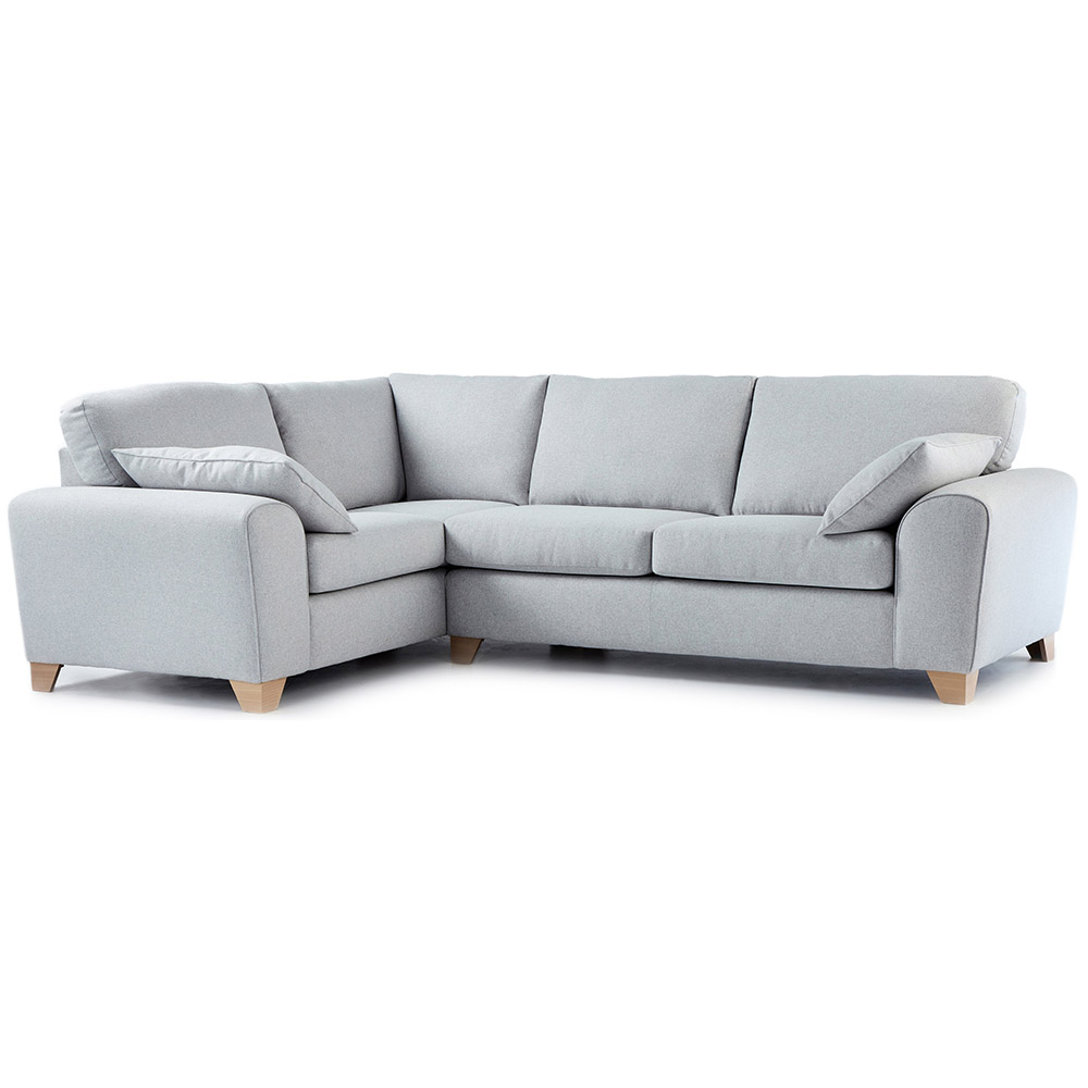 Robyn Fabric Corner Sofa Left Hand In Light Grey Just