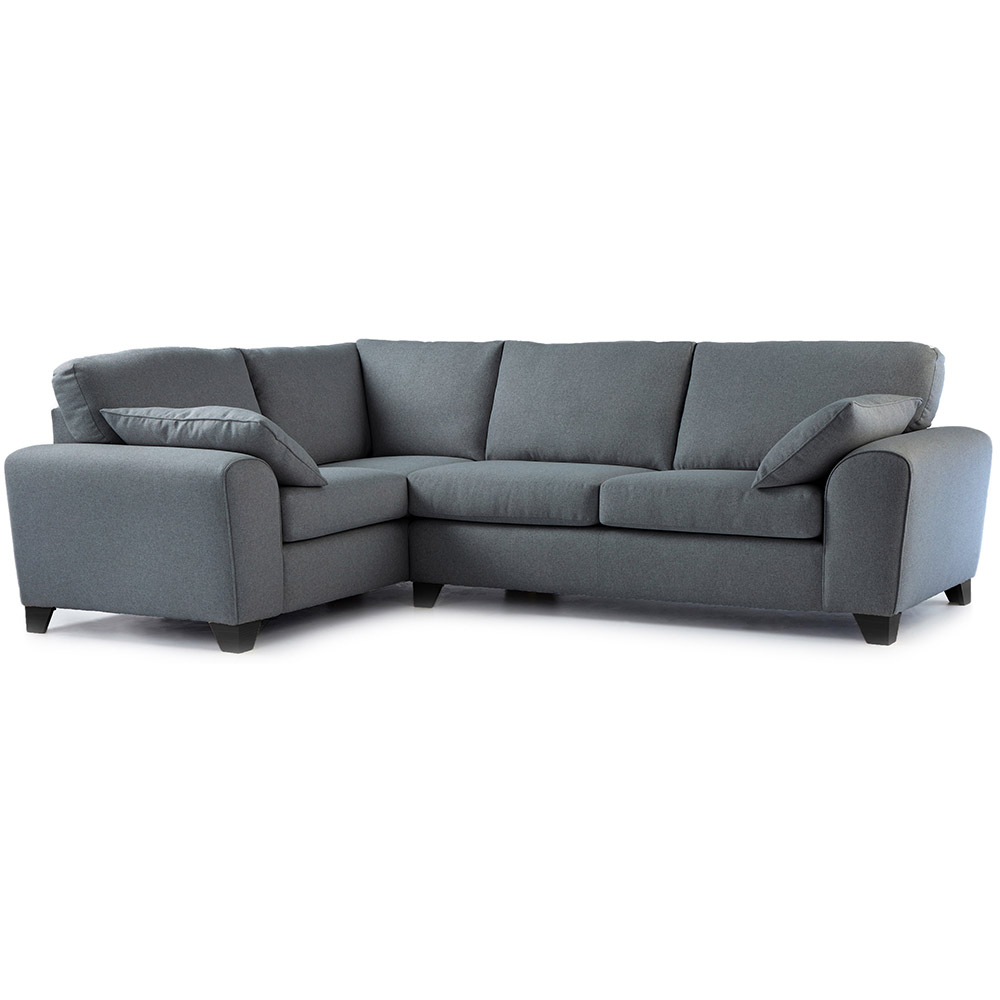 Robyn Fabric Corner Sofa Left Hand in Steel