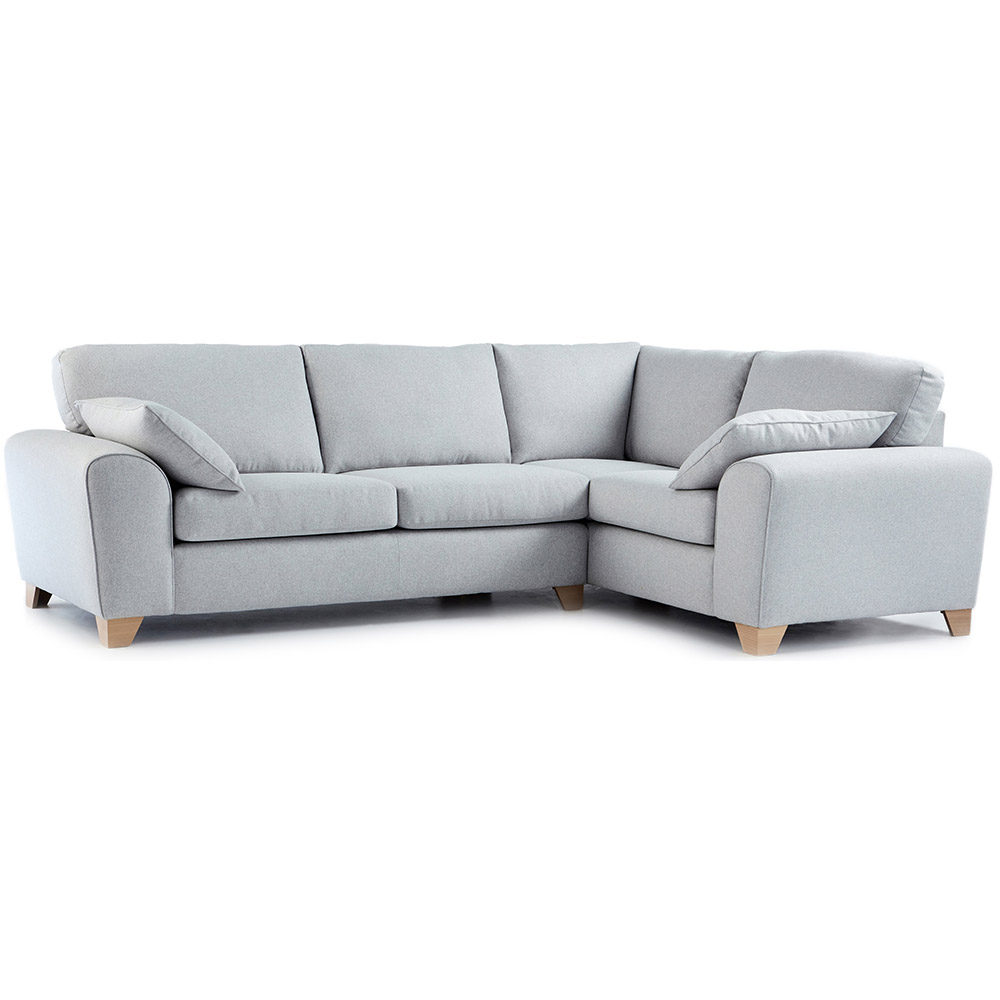Robyn Fabric Corner Sofa Right Hand in Light Grey