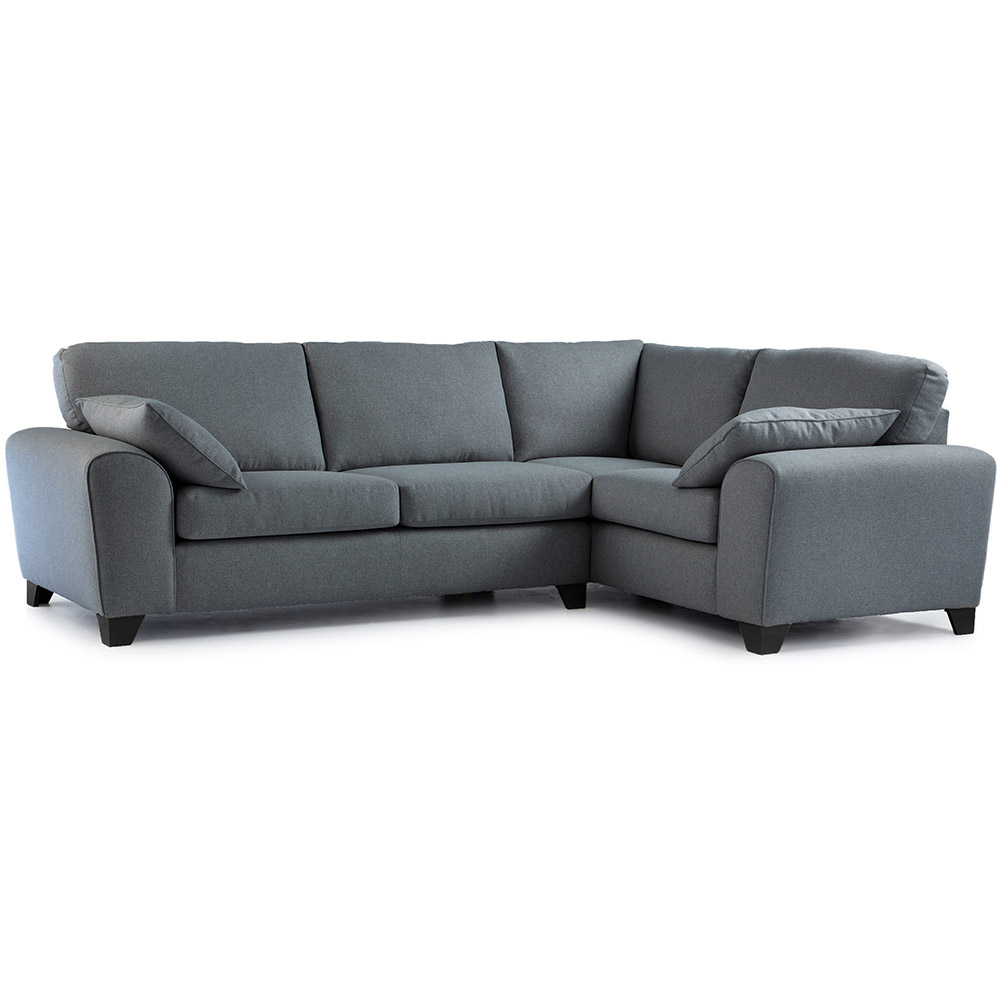Robyn Fabric Corner Sofa Right Hand in Steel