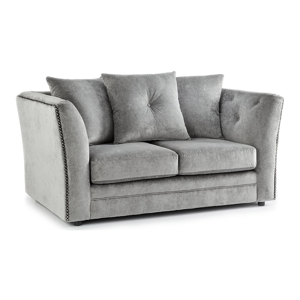 Lincoln Fabric 2 Seater Sofa in Grey Merino