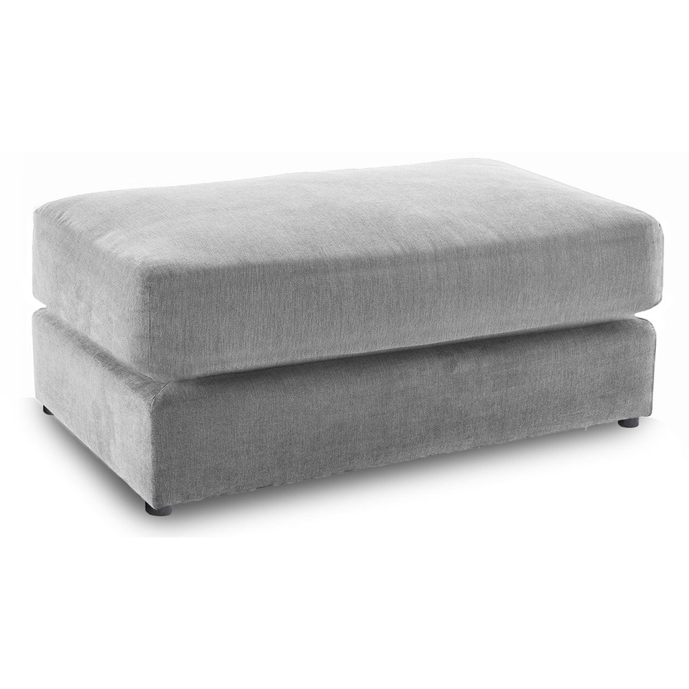 Lincoln Fabric Footstool in Grey Merino