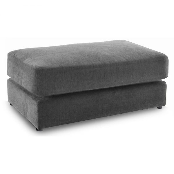 Washington Fabric Footstool in Charcoal