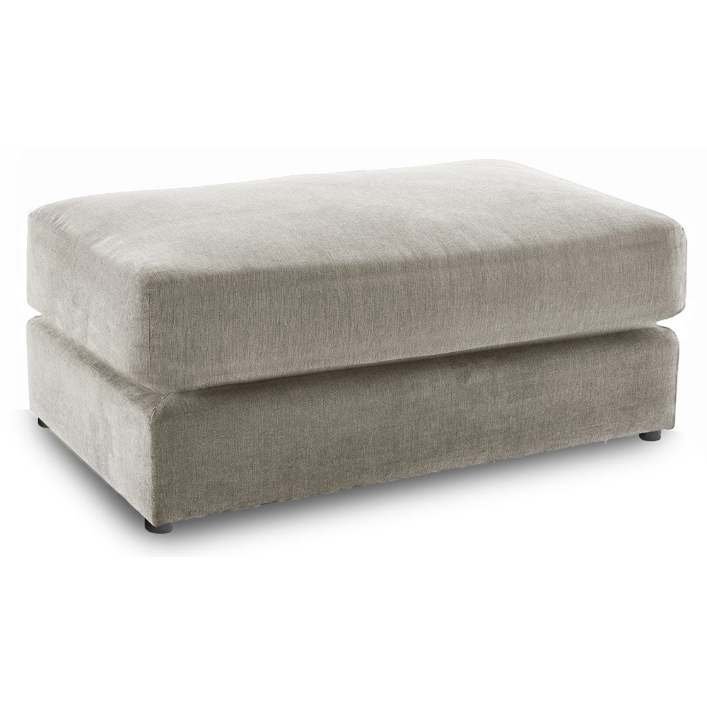Washington Fabric Footstool in Stone