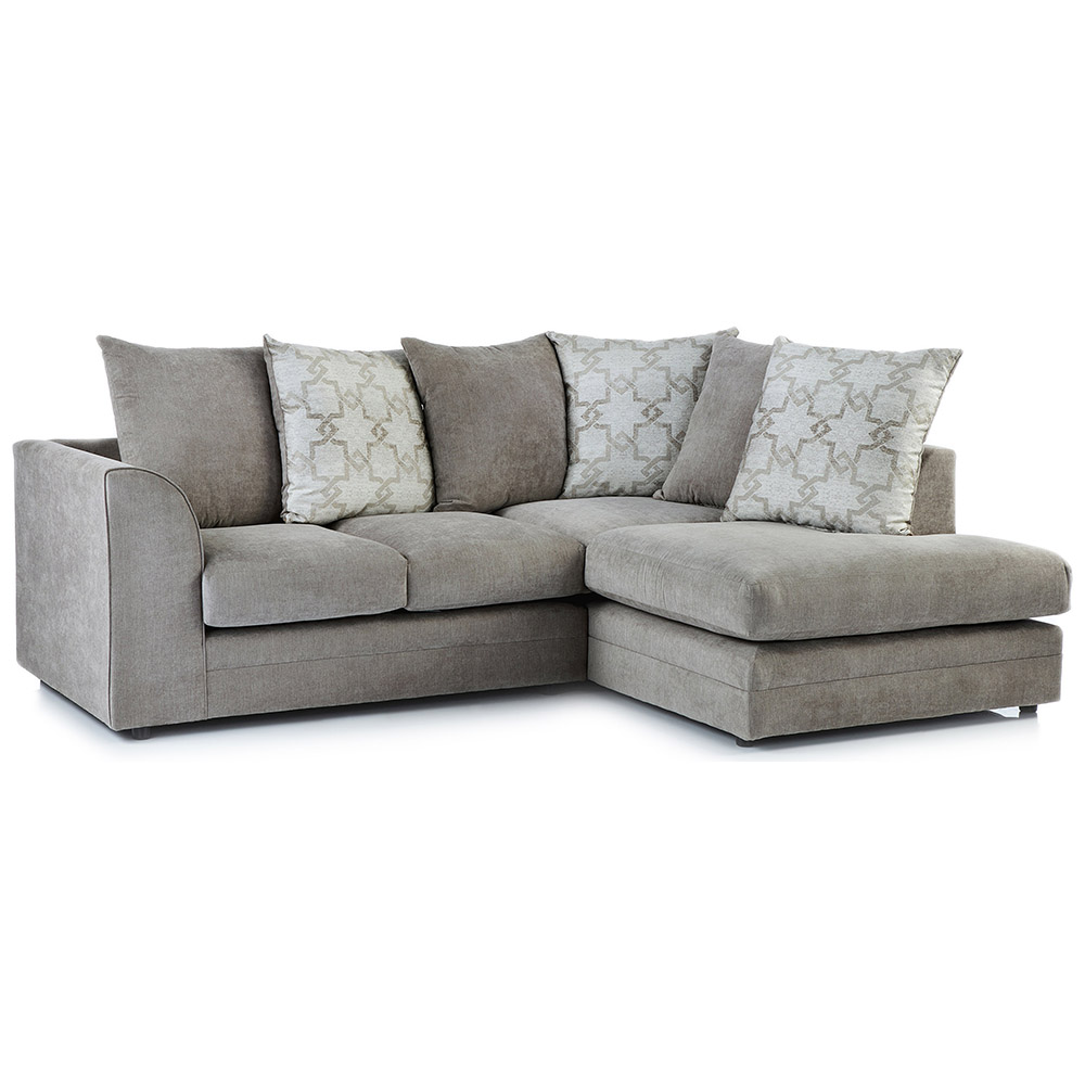 Washington Fabric Right Hand Corner Sofa in Stone
