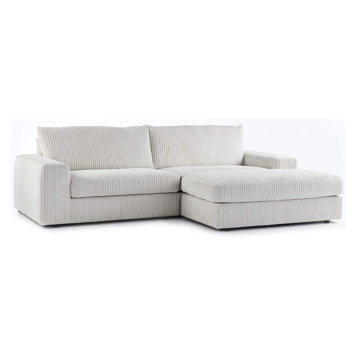 The Champ Fabric Reversible Corner Chaise Sofa Just Sit