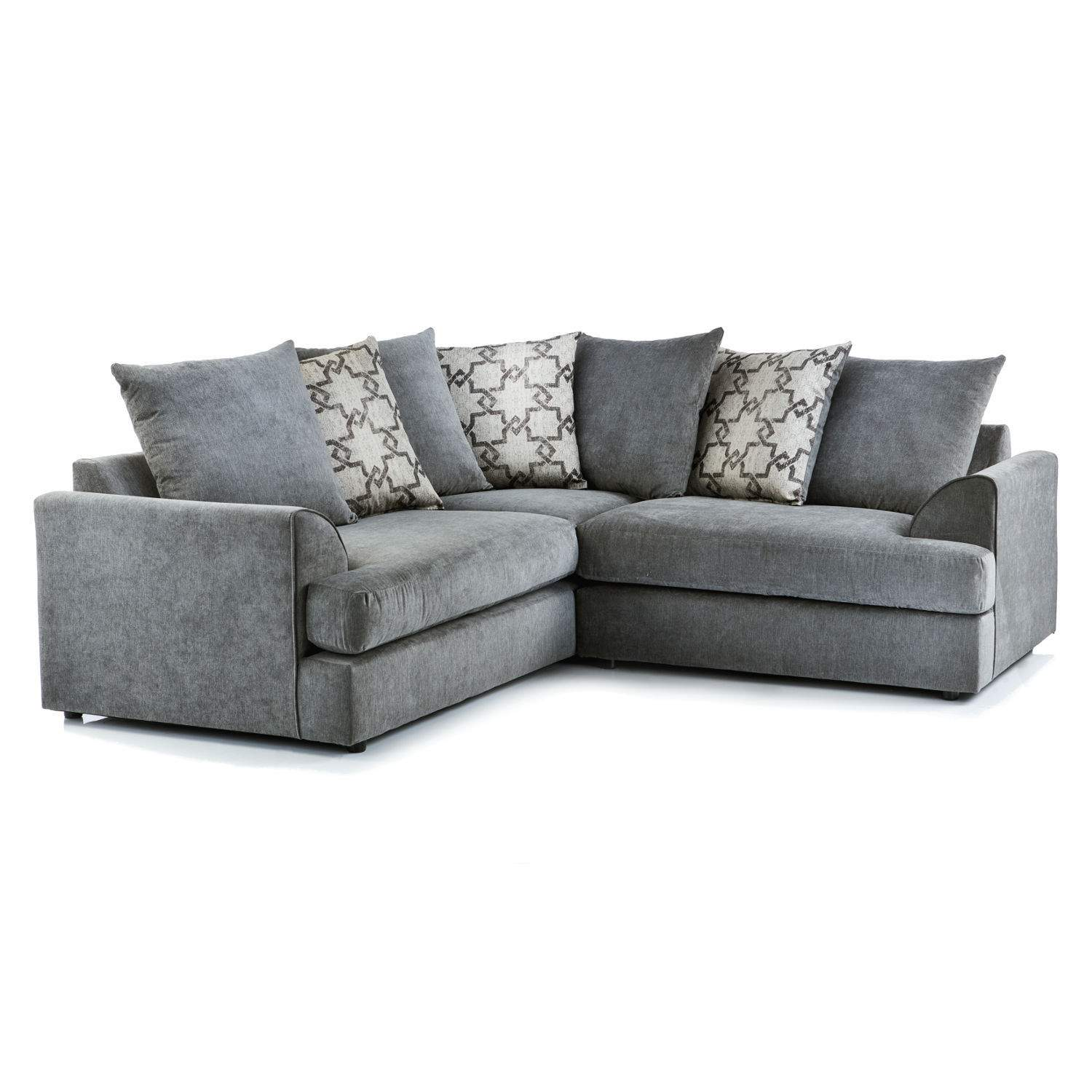 Washington Fabric Corner Sofa in Charcoal
