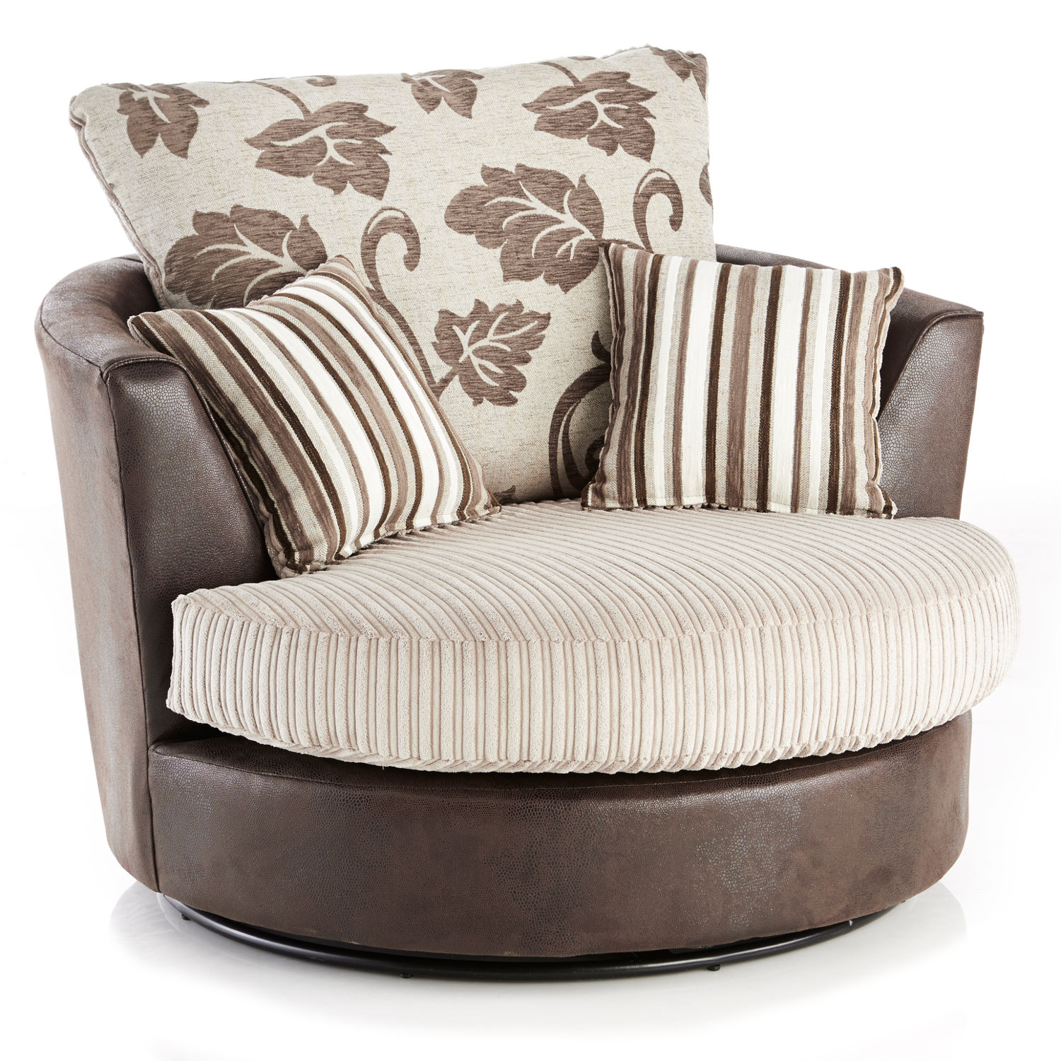 Lush Jumbo Cord Swivel Chair