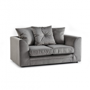 Rockford Soft Velvet 2 Seater Sofa in Charcoal
