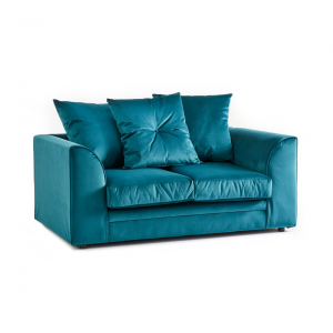 Rockford Soft Velvet 2 Seater Sofa in Turquoise