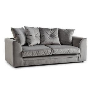 Rockford Soft Velvet 3 Seater Sofa in Charcoal