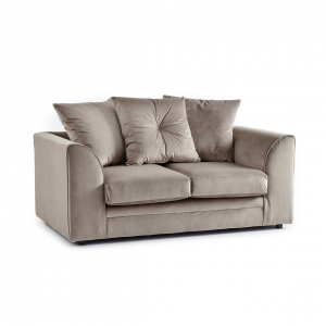 Rockford Soft Velvet 2 Seater Sofa in Mink