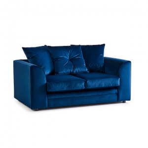 Rockford Soft Velvet 2 Seater Sofa in Navy