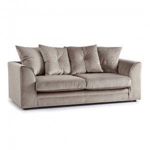 Rockford Soft Velvet 3 Seater Sofa in Mink