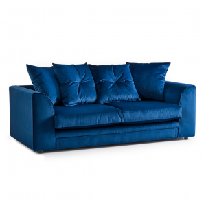 Rockford Soft Velvet 3 Seater Sofa in Navy